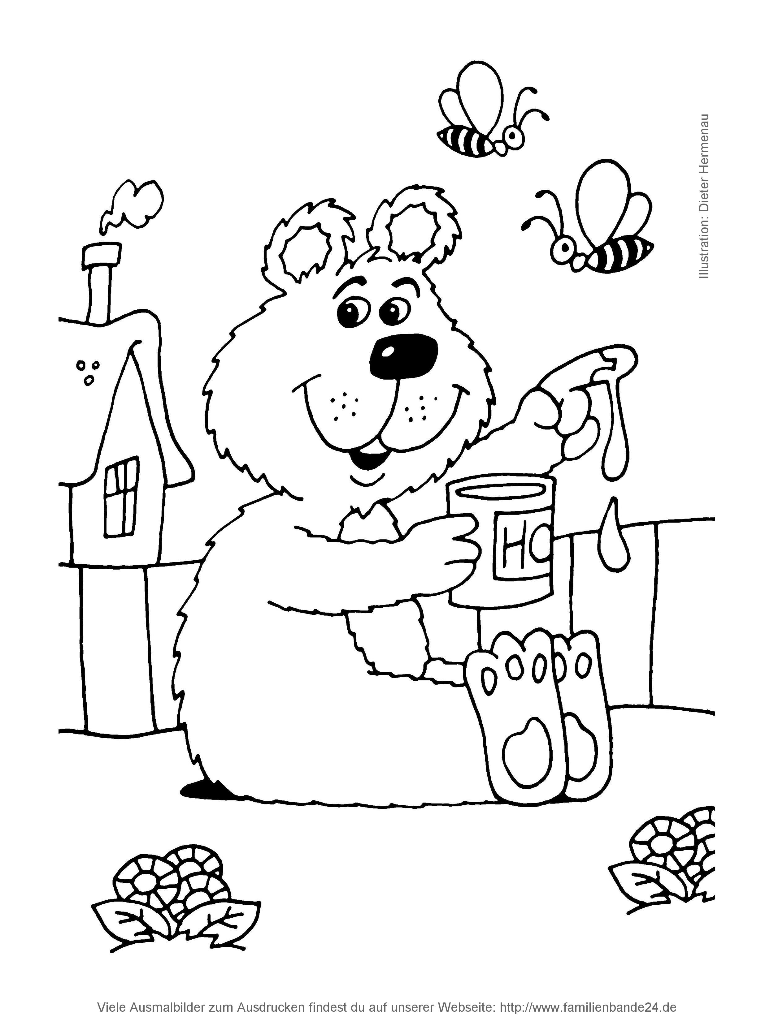 Nichts auf der Welt isst er lieber als se goldene und zähflüssige Süßigkeit Einziges Problem neben klebringen Fingern sind Bienen