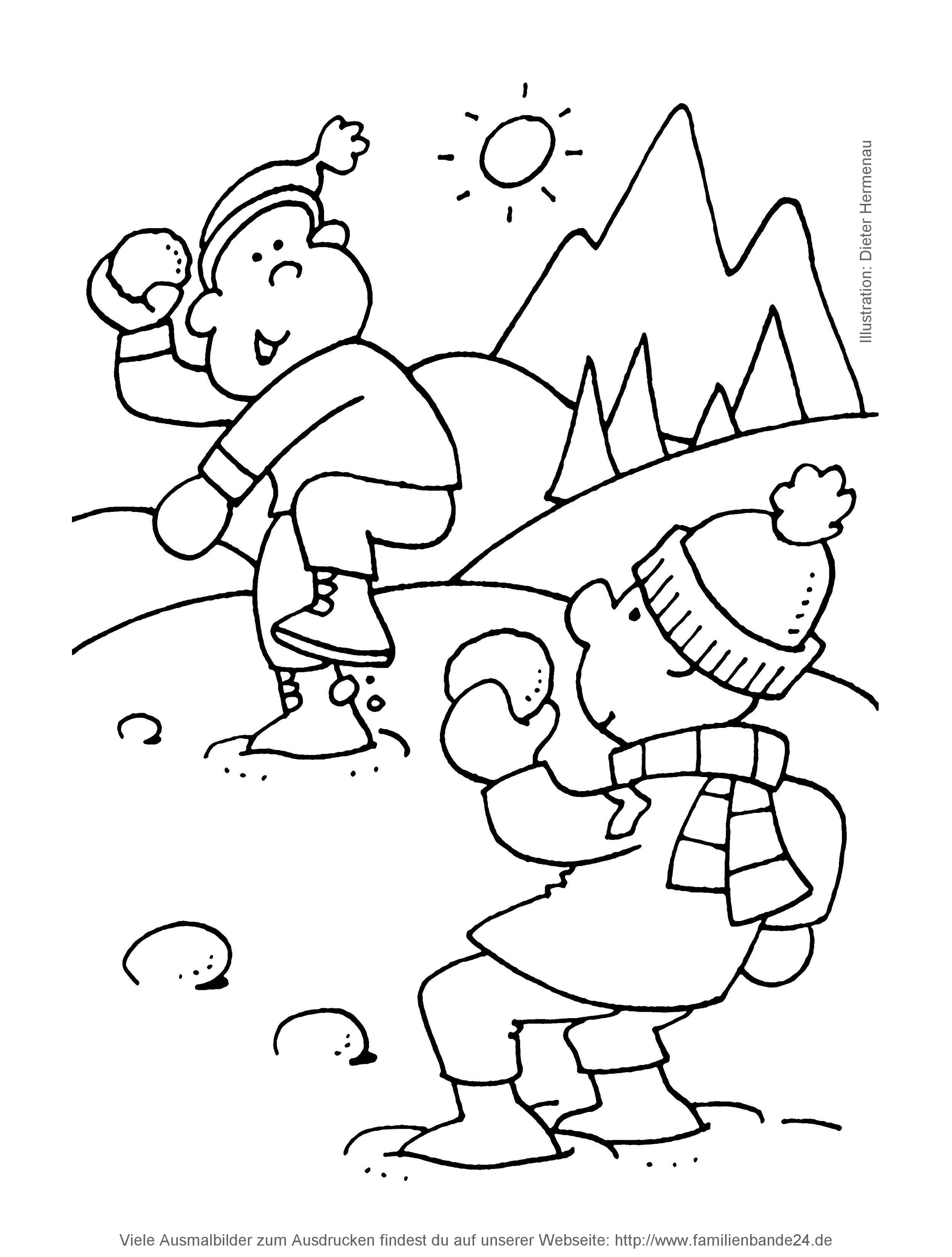 Winter Ausmalbilder Für Kinder : Kostenlose Ausmalbilder F R Kinder