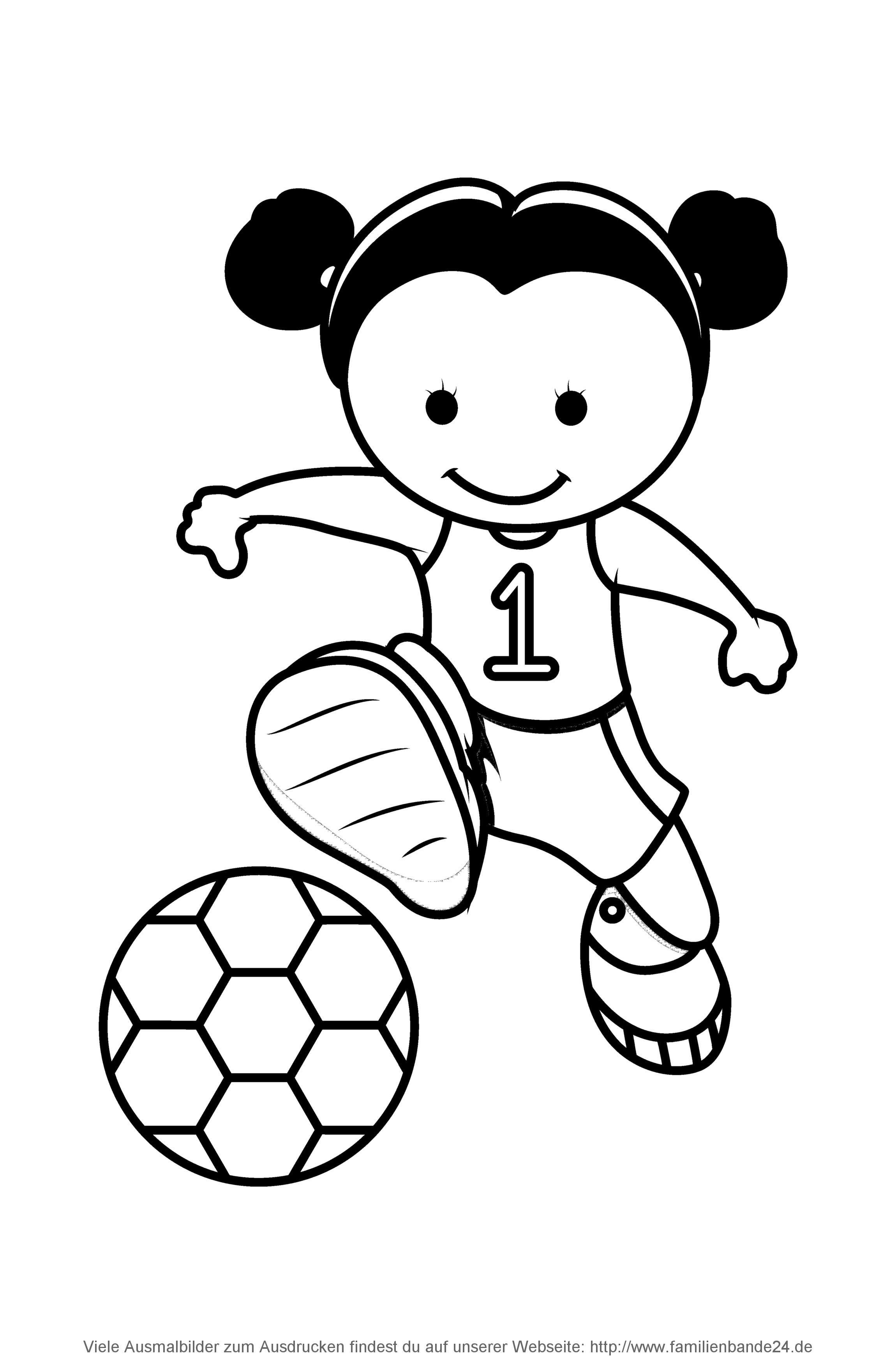 Nett Malvorlagen Fußball Mädchen Zeitgenössisch - Malvorlagen Von ...