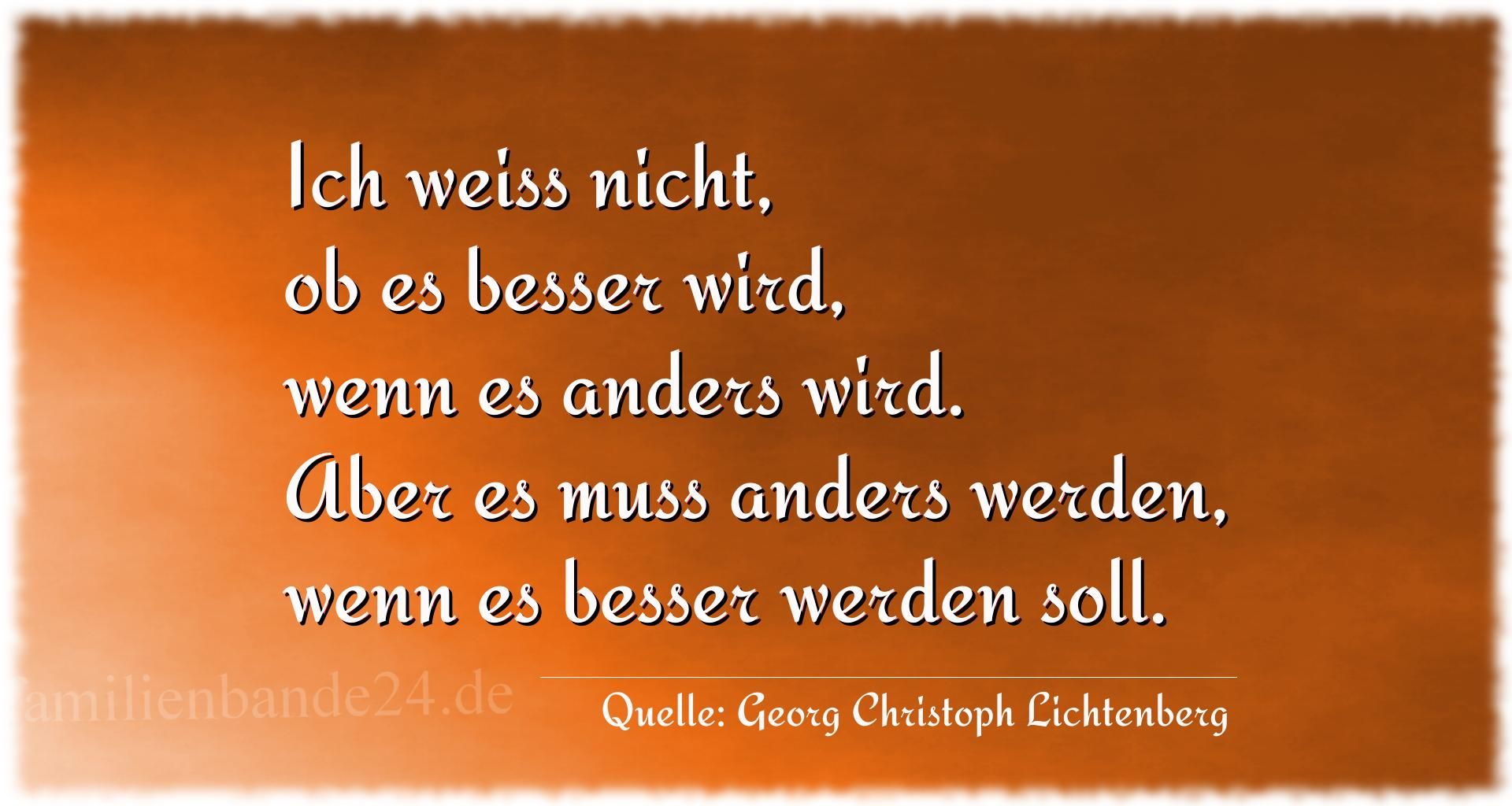 Aphorismus Nr. 1281, Quelle Georg Christoph Lichtenberg