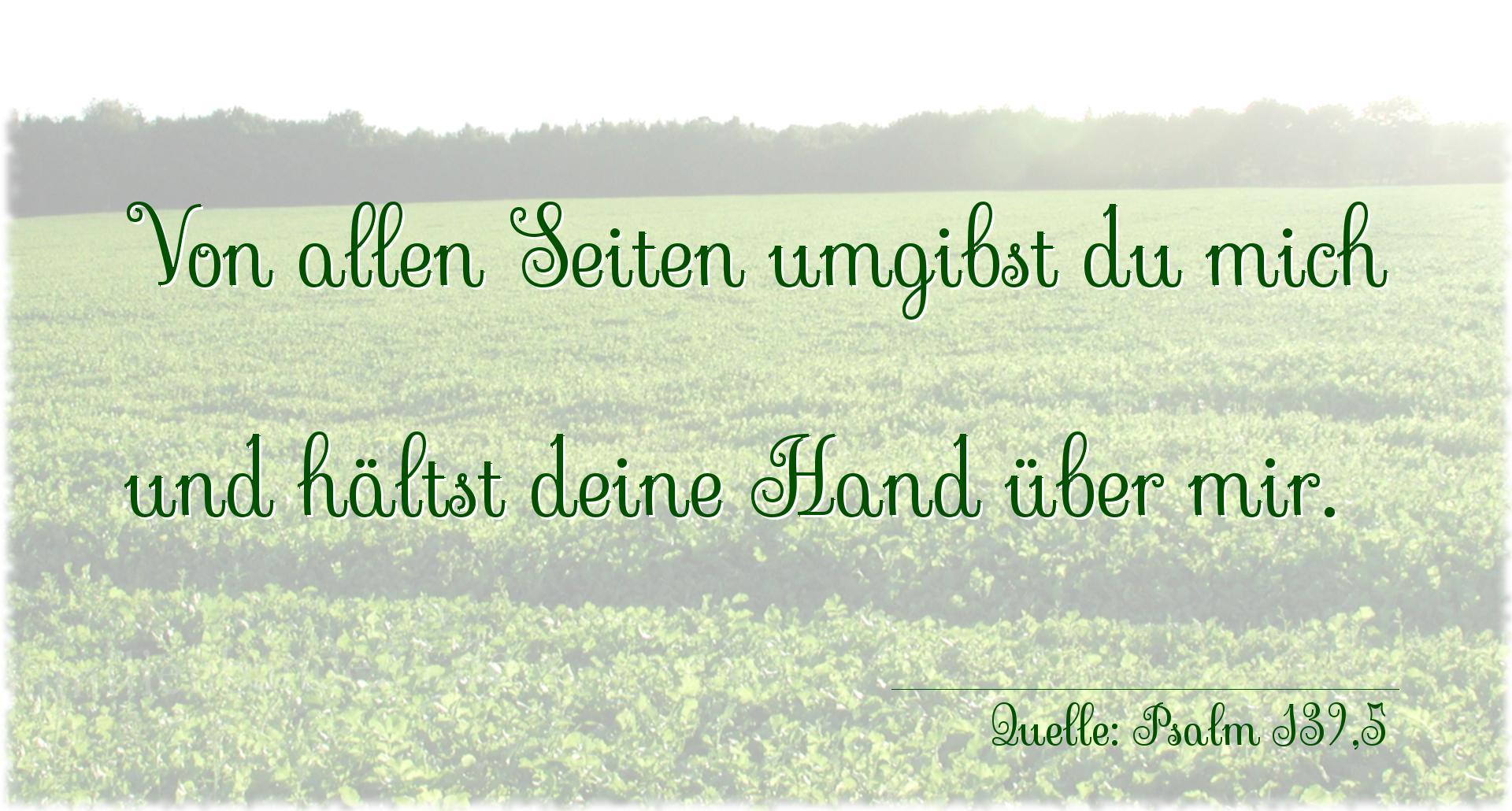 Psalm 139 Von Allen Seiten Umgibst Du Mich